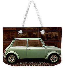 Austin Mini Cooper Mixed Media Weekender Tote Bag