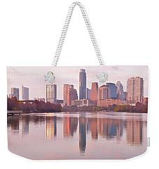 Austin Seasonal Reflection Weekender Tote Bag by Frozen in Time Fine Art Photography