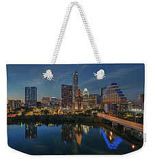 Austin Skyline At Night 7-4 Weekender Tote Bag