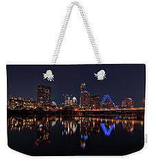 Austin Skyline At Night Weekender Tote Bag