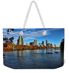 Austin Skyline From Lou Neff Point Weekender Tote Bag by Judy Vincent