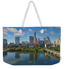 Austin Skyline Panorama Spring Afternoon 7-1 Weekender Tote Bag