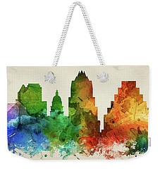 Austin Skyline Panorama Ustxau-pa03 Weekender Tote Bag