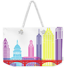 Austin Skyline Pop Weekender Tote Bag