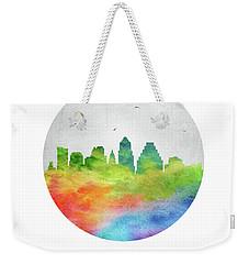 Austin Skyline Ustxau20 Weekender Tote Bag by Aged Pixel