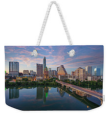 Austin Texas Evening Skyline 73 Weekender Tote Bag