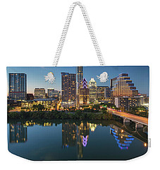 Austin Texas Skyline At Night 73 Weekender Tote Bag