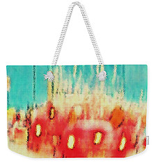 Weekender Tote Bag featuring the photograph Austin Traffic by Barbara Tristan