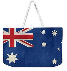 Australian Flag Vintage Retro Style Weekender Tote Bag by Bruce Stanfield