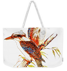 Weekender Tote Bag featuring the photograph Australian Kookaburra 666 by Kevin Chippindall