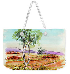 Australian Landscape Sketch Weekender Tote Bag by Margaret Stockdale
