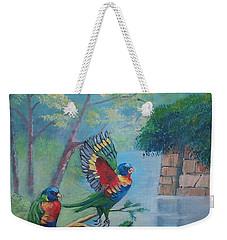 Australian Rainbow Parrots Weekender Tote Bag