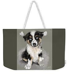 Australian Shepherd Pup Weekender Tote Bag