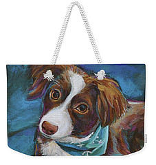 Australian Shepherd Puppy Weekender Tote Bag by Robert Phelps