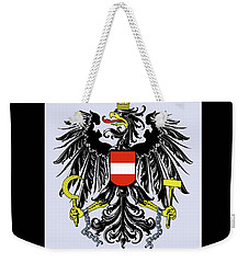 Weekender Tote Bag featuring the drawing Austria Coat Of Arms by Movie Poster Prints