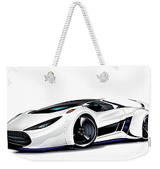 Weekender Tote Bag featuring the drawing Automobili Lamborghini Concept by Brian Gibbs