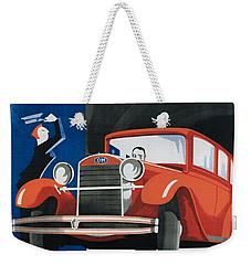 Autorimessa Vittoria  Art Deco Poster Weekender Tote Bag