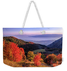 Autumn Above Utah Lake Weekender Tote Bag