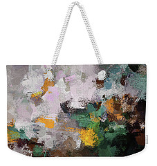 Weekender Tote Bag featuring the painting Autumn Abstract Painting by Ayse Deniz