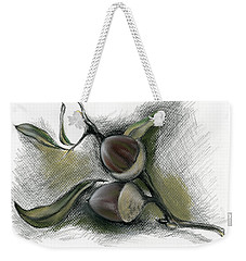 Autumn Acorns On An Oak Twig Weekender Tote Bag