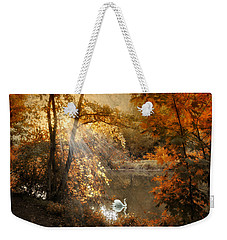 Weekender Tote Bag featuring the photograph Autumn Afterglow by Jessica Jenney