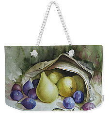 Weekender Tote Bag featuring the painting Autumn Again by Elena Oleniuc