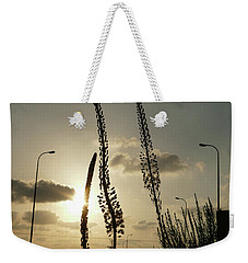 Weekender Tote Bag featuring the photograph Autumn Alarm 05 by Arik Baltinester