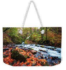 Autumn Along Bridal Veil Weekender Tote Bag