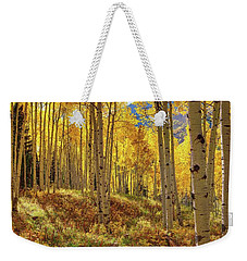 Autumn Aspen Forest Aspen Colorado Panorama Weekender Tote Bag