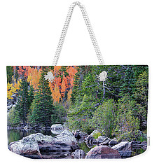 Weekender Tote Bag featuring the photograph Autumn At Bear Lake by David Chandler