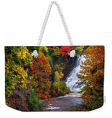 Autumn At Ithaca Falls Weekender Tote Bag