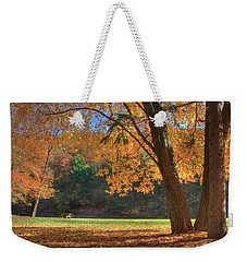 Weekender Tote Bag featuring the photograph Autumn At Lykens Glen by Lori Deiter