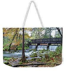 Weekender Tote Bag featuring the photograph Autumn At Maramec Spring by Cricket Hackmann