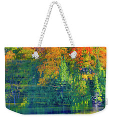 Weekender Tote Bag featuring the photograph Autumn At Mccarston's Lake by Gary Hall