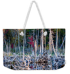 Autumn At Moosehead Bog Weekender Tote Bag