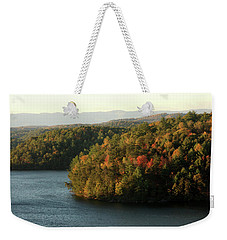 Weekender Tote Bag featuring the photograph Autumn At Philpott Lake, Virginia by Emanuel Tanjala