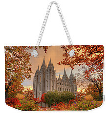 Autumn At Temple Square Weekender Tote Bag