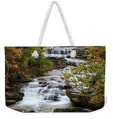 Weekender Tote Bag featuring the photograph Autumn At The Falls by Dale Kincaid