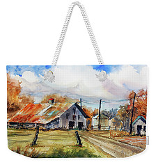Autumn At The Farm Weekender Tote Bag by Ron Stephens