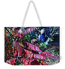 Weekender Tote Bag featuring the photograph Autumn At The Taverne by Joan  Minchak