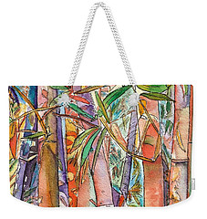Weekender Tote Bag featuring the painting Autumn Bamboo by Marionette Taboniar