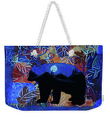 Autumn Bear Silhoutte Weekender Tote Bag