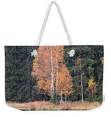 Autumn Birch By The Lake Weekender Tote Bag by Michal Boubin