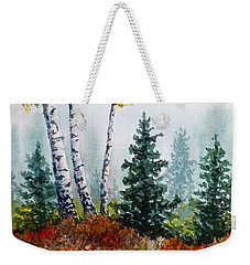 Autumn Birch Weekender Tote Bag