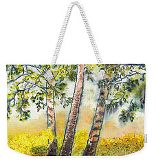 Autumn Birch Trees Weekender Tote Bag