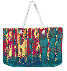 Autumn Birches Weekender Tote Bag by Holly Martinson