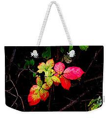 Autumn Blackberry Leaves Weekender Tote Bag