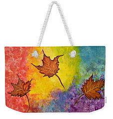 Autumn Bliss Colorful Abstract Painting Weekender Tote Bag