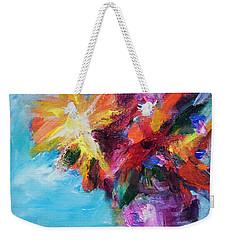 Colorful Flowers  Weekender Tote Bag