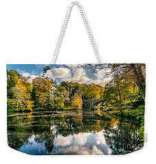 Autumn Bridge Weekender Tote Bag by Adrian Evans
